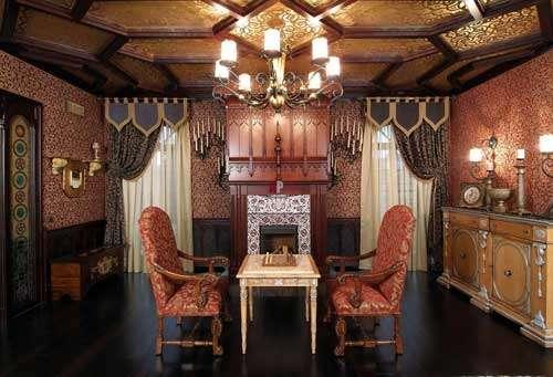 Пример красивой отделки потолка фото