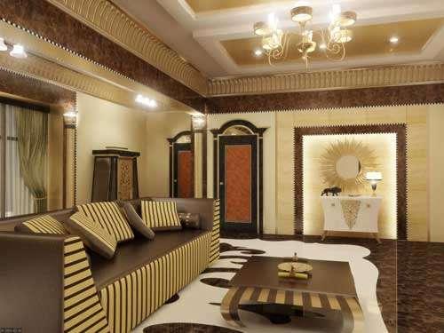 Фото роскошной отделки гостиной в доме