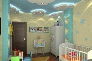 Красивая отделка детской комнаты