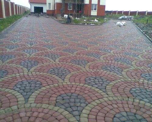 Укладка тротуарной плитки радиусом