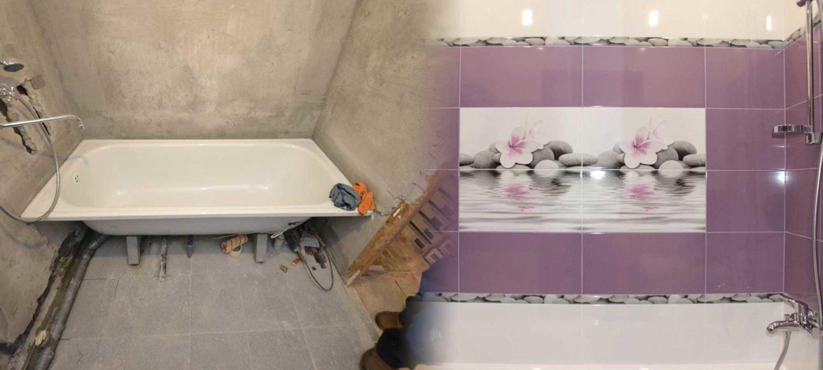 Недорогой ремонт квартир в Краснодаре: отделка ванной комнаты под ключ